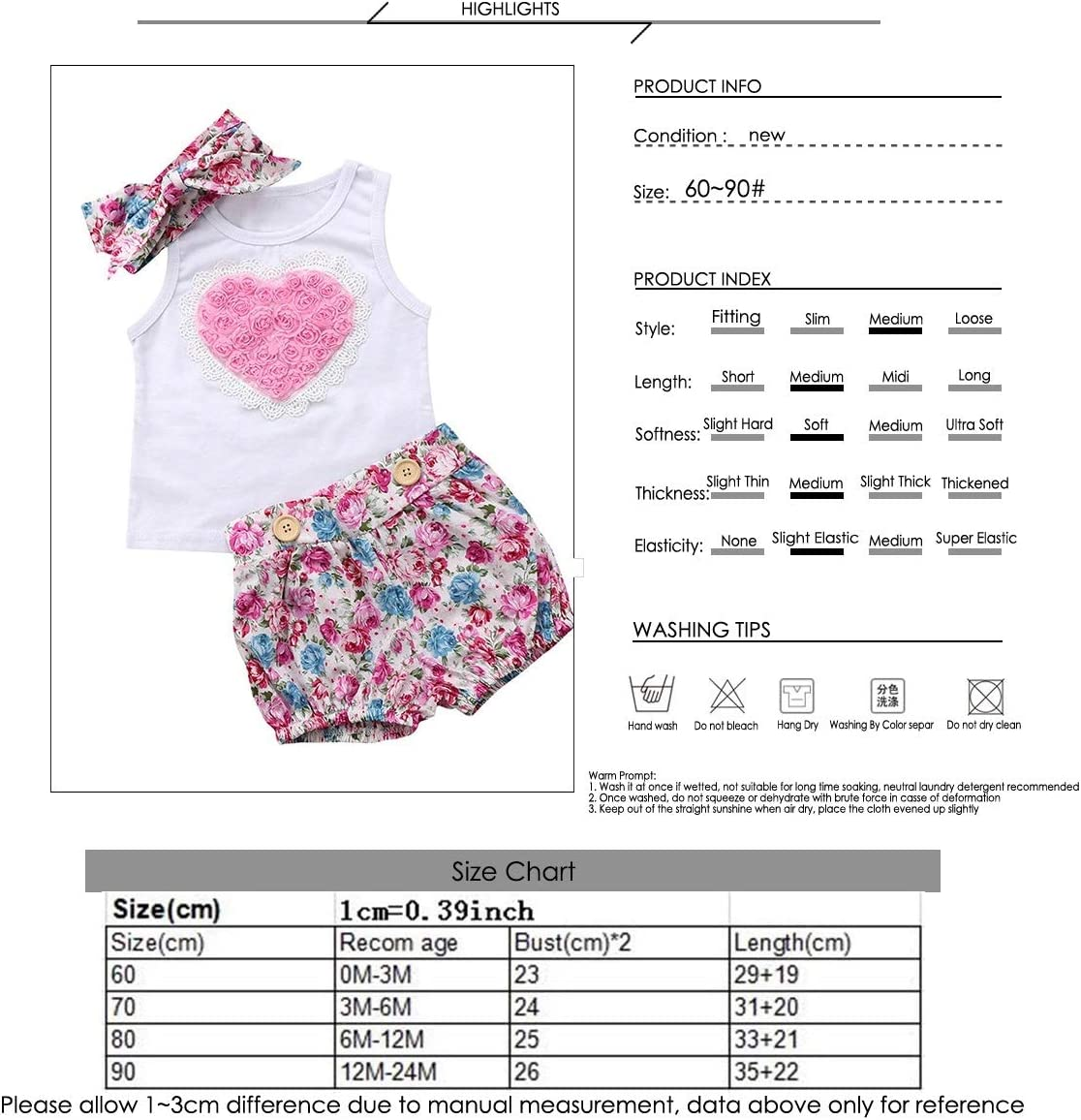 Floral Suspender Skirt Summer Outfits Headband Puseky Baby Girls Big Little Sister Matching Heart Vest