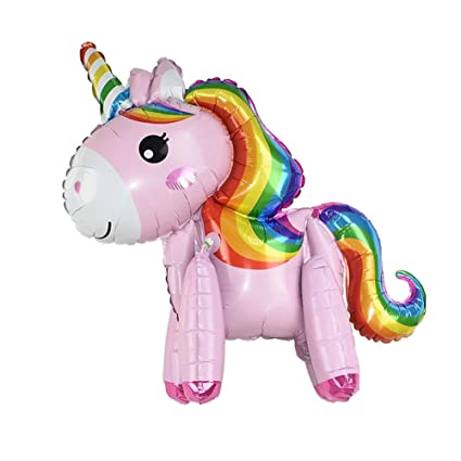 Amazon.com: Globos gigantes de unicornio de ETCBUYS, set de ...