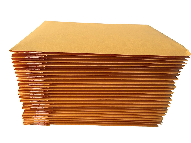 #0 Kraft Self Seal Bubble Mailer Padded Envelopes, 6.5'' x 10'', 6.5x10 (250)