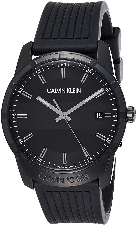 Calvin Klein Reloj para de con Correa en Caucho K8R114D1
