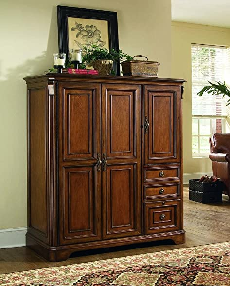 Amazon.com: Hooker Furniture Brookhaven Computer Cabinet in Clear ...