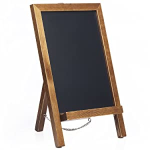 """Cedar Markers 14""""x9.5"""" Chalk Board Standing Sign. Mini Chalkboard Signs with Chain. Wooden Signs Chalk Board Perfect for Chalk Markers and Vintage Wedding Signs, Rustic Kitchen Decor. (14x9.5)"""