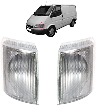 Transit Mk4//5 1991-2000 Clear Front Indicator Pair Left /& Right