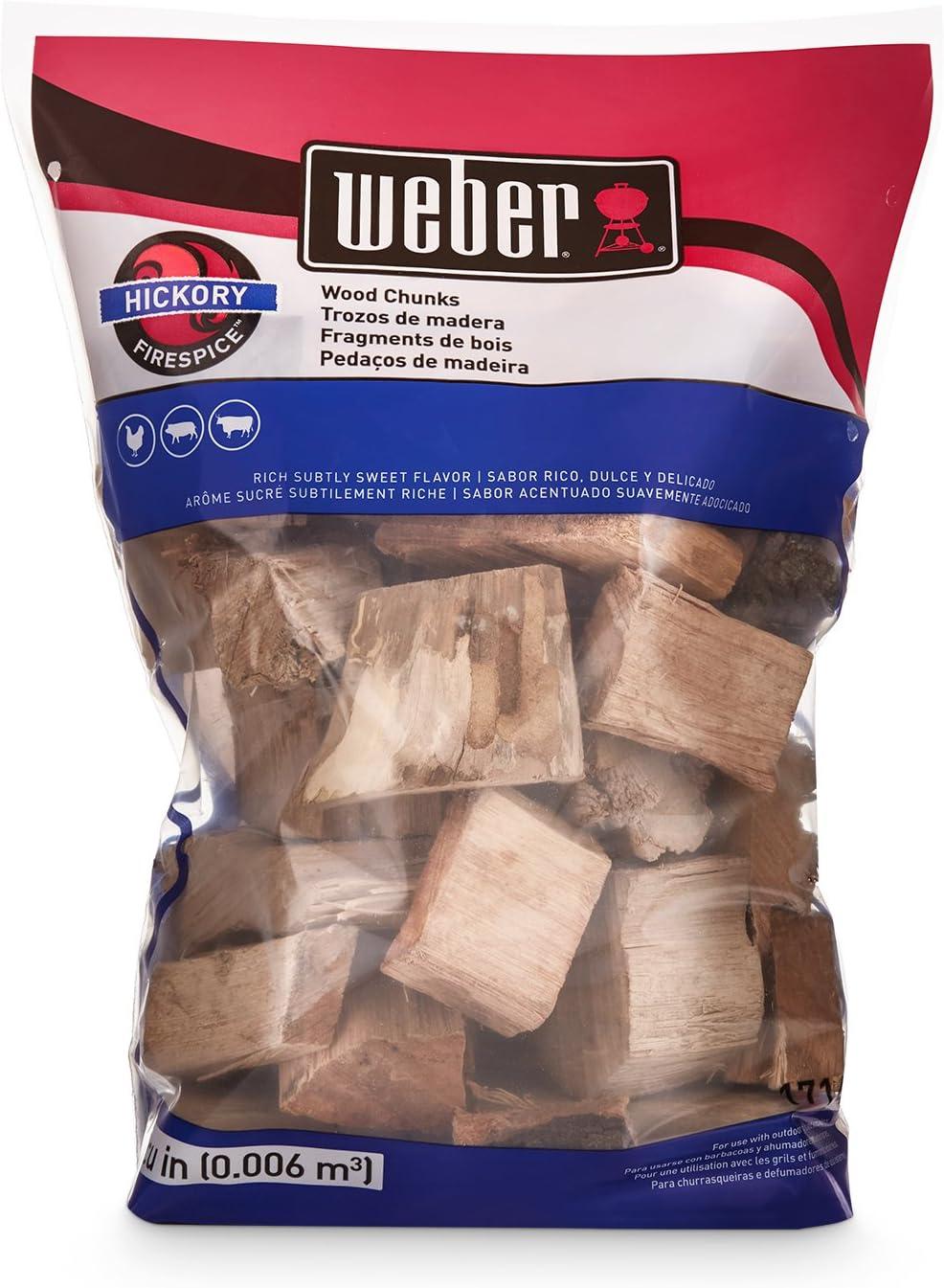 Weber 17148 Hickory 4 lbs Wood Chunks