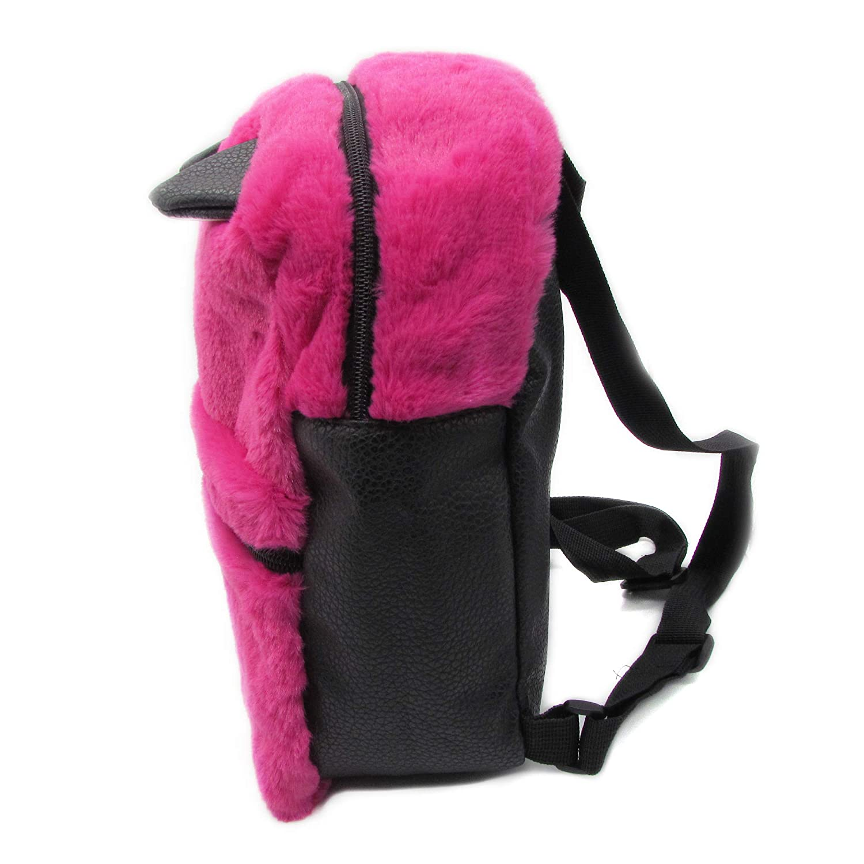 Daisy Fuentes Little Kids Backpack Kitten Design Faux Fur Material Shoulder Bag Turquoise