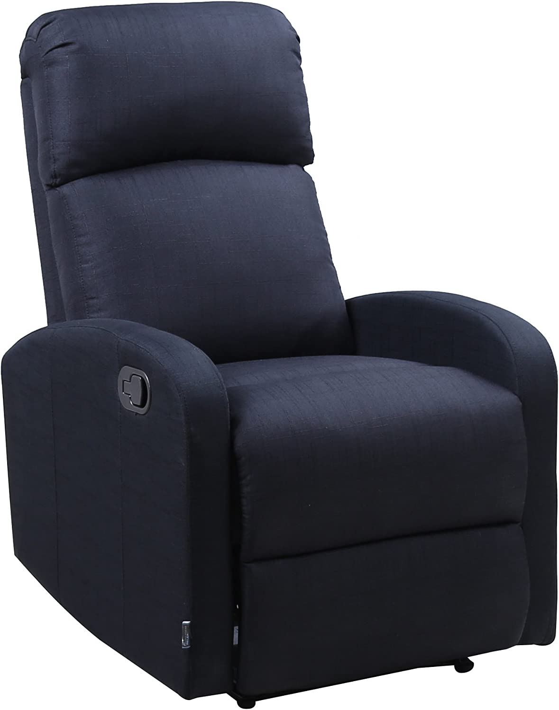 Astan Hogar Confort Plus Sillón Relax, Tela, Negro, Compacto