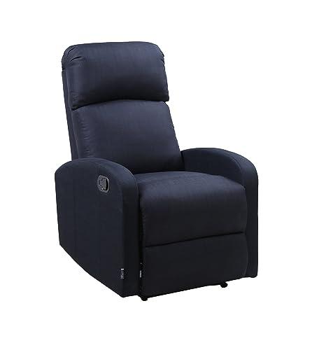 Astan Hogar Confort Sillón Relax con Reclinación Manual, Tapizado en Tela. Modelo Premium Plus AH-AR30610NG, Negro, Compacto