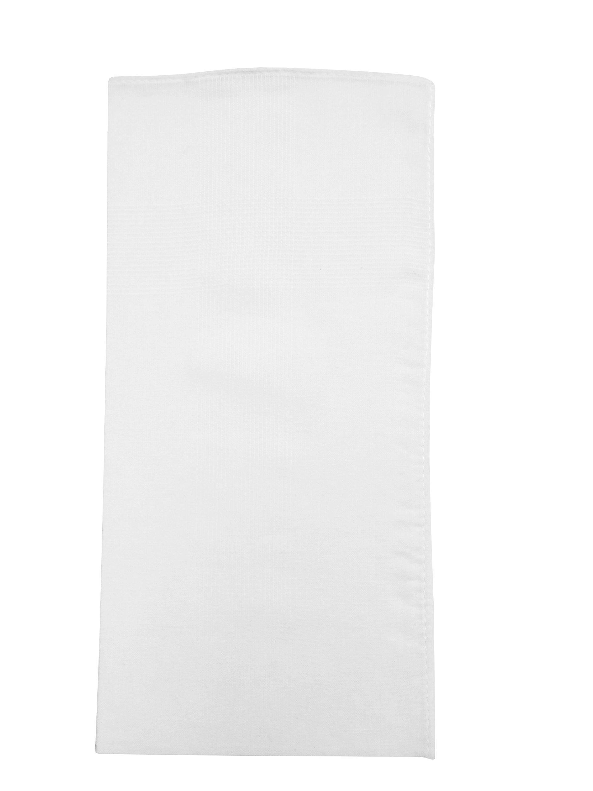 Imperial 13 Pack Men's Fine Handkerchiefs 65% Polyester 35% Cotton (White)