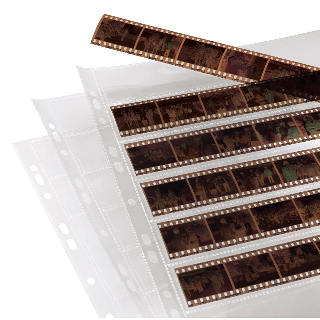 Hama Negative File Storage Sleeves, Each Holding 7 Strips of 6 (24 x 36 mm) Frames, Polypropylene (Pack of 100) by Hama