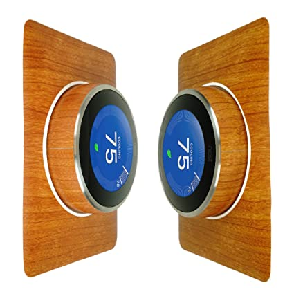 Skinomi TechSkin - Nest Thermostat Screen Protector (3rd Gen) + Light Wood Full Body