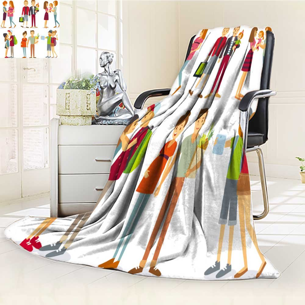 Fleece Blanket 300 GSM Anti-static Super Soft pregnant women gays couples and families with kids Warm Fuzzy Bed Blanket Couch Blanket(60''x 50'')