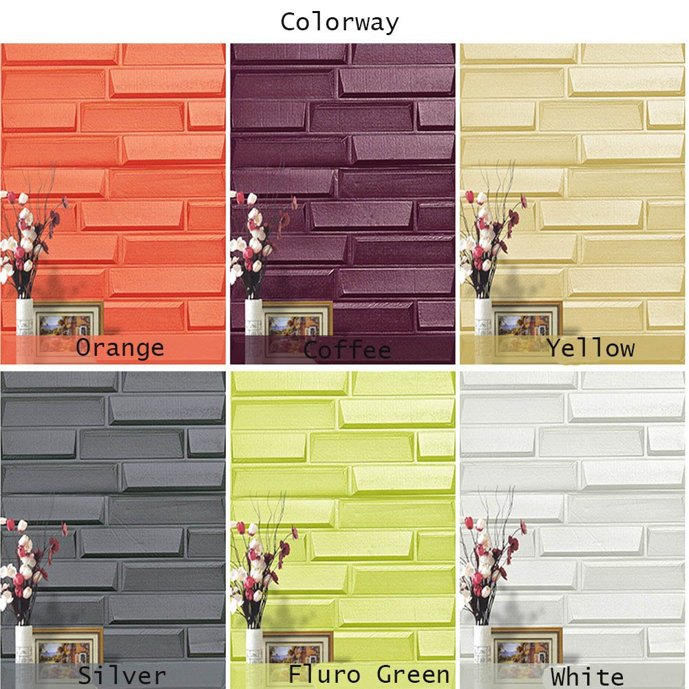 Amazon.com: 3D Wall Panels, Irregular Faux brick Foam Wallpaper ...