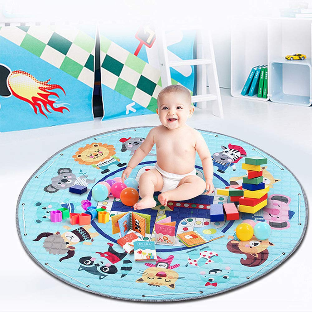 Duless Kinder Aufr/äumsack kinderteppich rund,Baby Krabbeldecke Kinderteppich Decke Antirutschbeschichtete Baumwoll-Spieldecke f/ür Kinderzimmer
