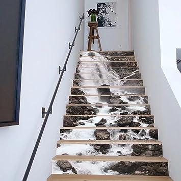 Frolahouse Backsplash Tile Aufkleber, DIY Wasserfall Fliesen Abziehbilder  Wasserdicht Schälen Und Stick Home Decor StairCase
