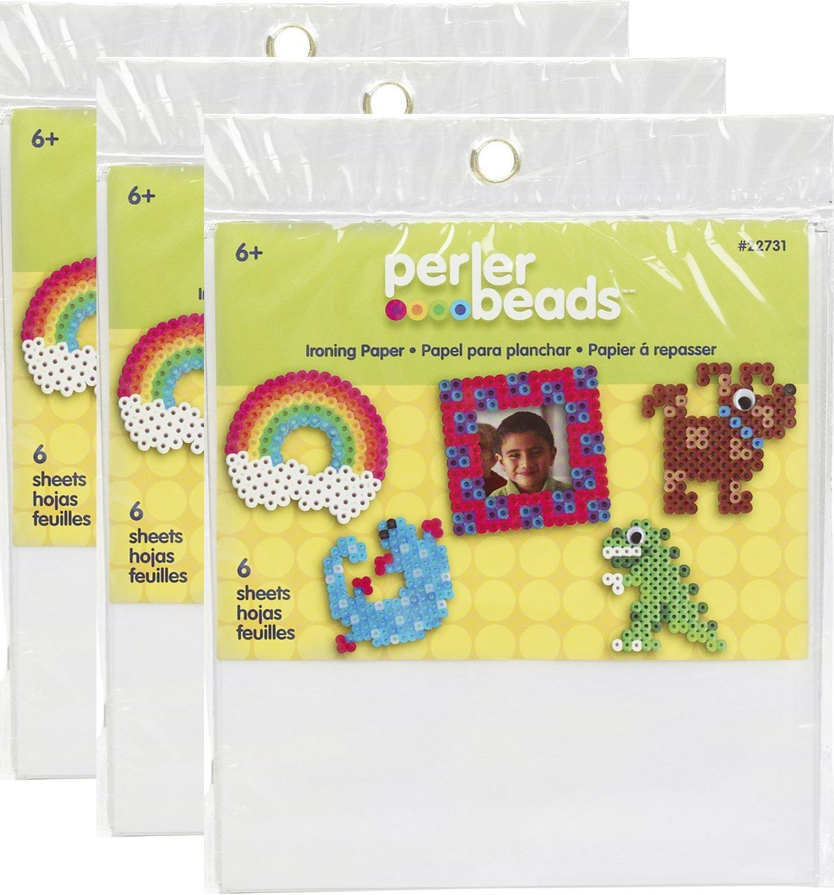 Perler Beads 22731 Fun Fusion Ironing Paper 6/Pkg- Notions - In Network