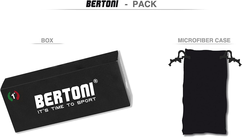 Bertoni Occhiali Sportivi Antivento Avvolgenti per Ciclismo MTB Sci Running multilente con Tagli di iperventilazione by Italy FT300
