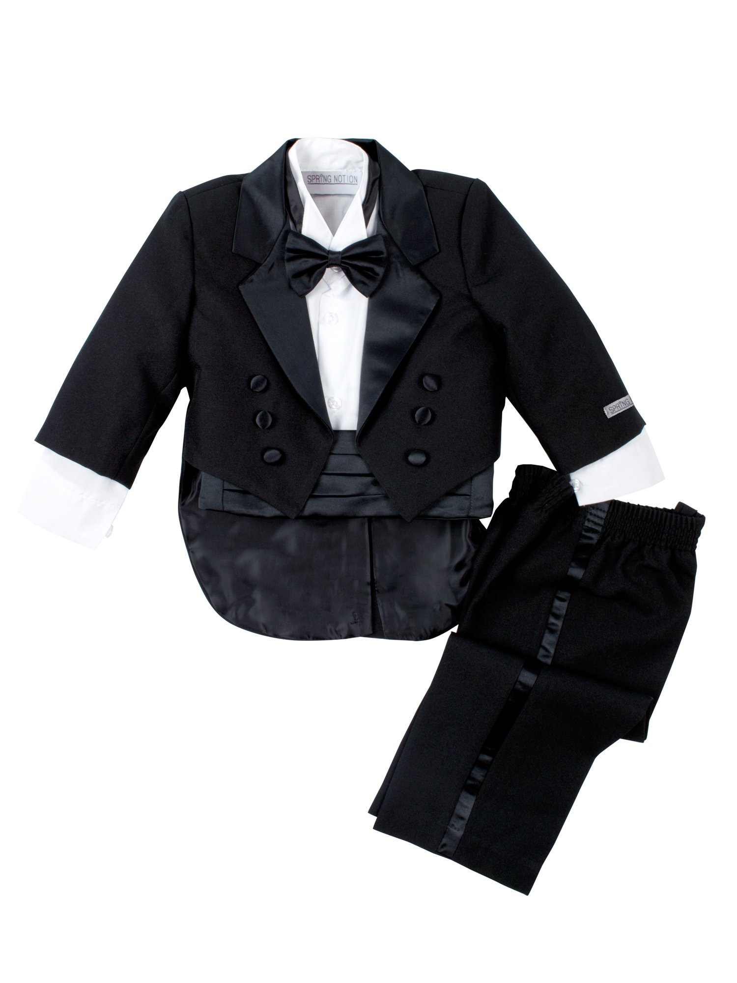 Spring Notion Baby Boys' Black Classic Tuxedo with Tail Medium/6-12 Months by Spring Notion