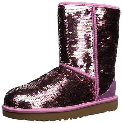 e7deac2a07f UGG - Boots Classic Short Sequin - Pink, Size:6 UK