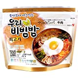 MRE Meals Ready to Eat 1 Pack of Bibimbap Korean Mixed Rice Bowl100g (3.53oz) 335 Kcal (Beef)