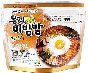 MRE Meals Ready to Eat 1 Pack of Bibimbap Korean Mixed Rice Bowl100g (3.53oz) 335 Kcal (Beef)