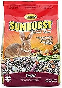 Higgins Sunburst Gourmet Rabbit Food Mix, 6 lbs, Large, Model:466046