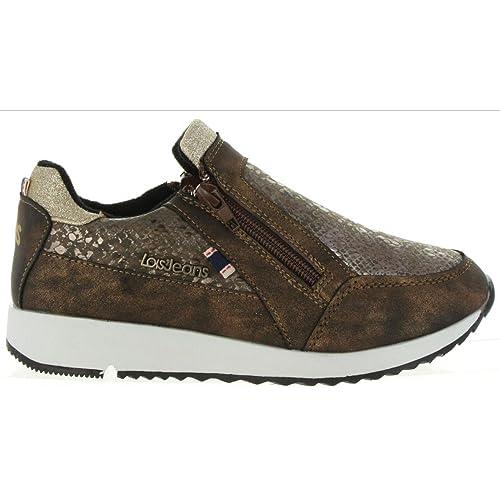 Zapatillas Deporte de Mujer y Niña LOIS JEANS 83851 Bronce: Amazon.es: Zapatos y complementos