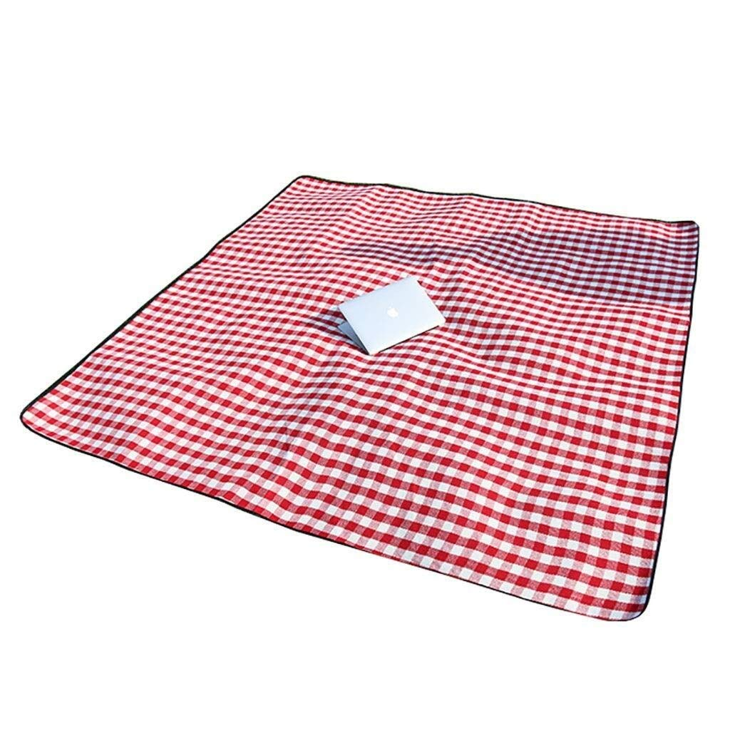 ZKKWLL Picnic Blanket Large Picnic mat Blanket Thickened 6mm red and White Plaid Portable Folding Beach Rug Beach mat by ZKKWLL