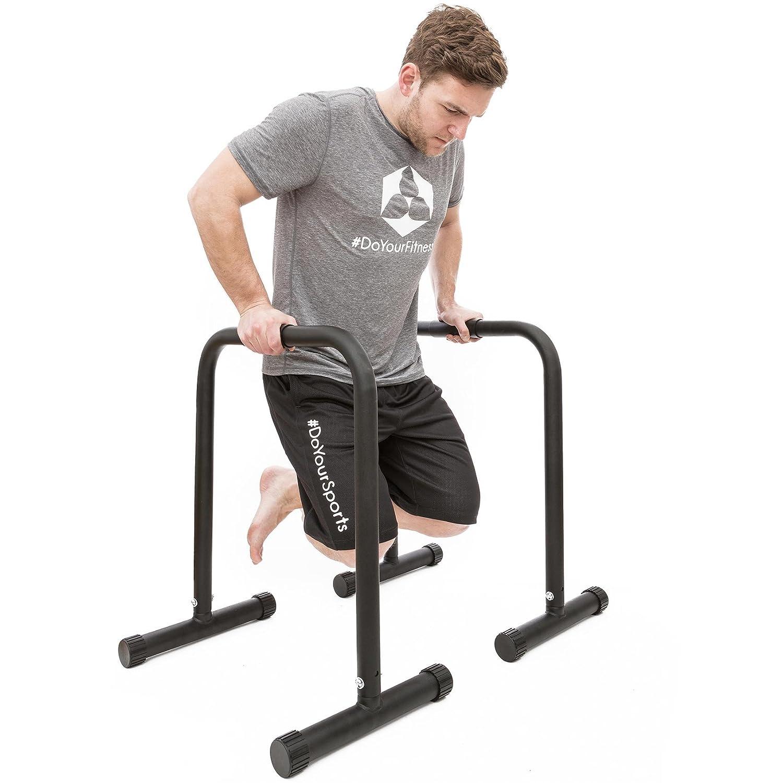 #DoYourFitness® Push-Up Standbars mit gummierten Handflächen - Maße 61 x 38 x 73 cm - ca. 12kg Eigengewicht / 200kg Belastbarkeit - Parallettes für Ganzkörpertraining & Eigengewichtsübungen #DoYourSports