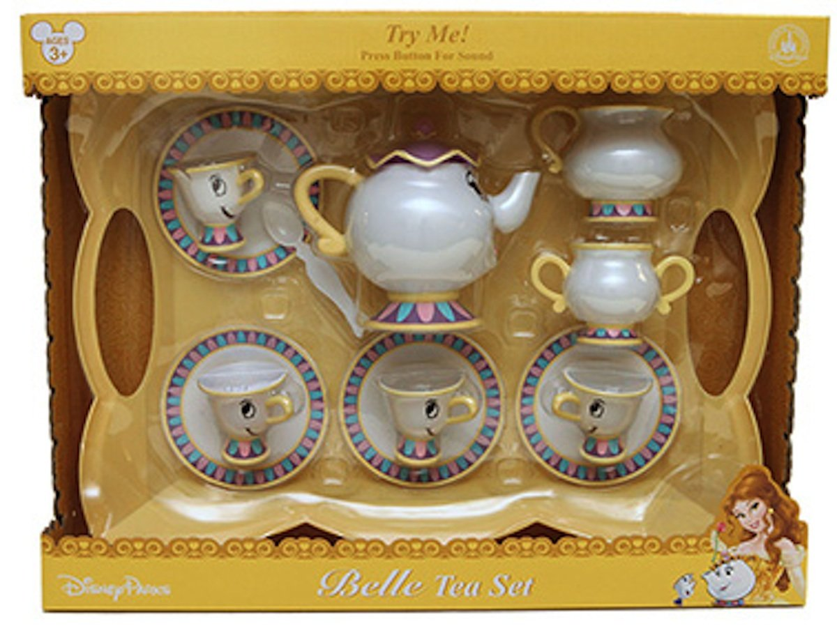 Mrs potts chip christmas decoration - Amazon Com Disney Parks Belle Tea Set Dishes Mrs Potts Chip Beauty And Beast With Sound Toys Games