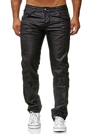 ArizonaShopping Herren Jeans Hose Coated Schwarz Slim Fit Glanz Beschichtet   Amazon.de  Bekleidung 5abaf5db13