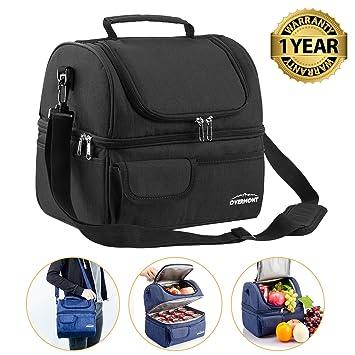 Bolsa isotérmica Overmont de 20 Iitros, para pícnic y comidas, bolsa térmica con correa de hombro, para exterior, viaje, oficina, coche, deporte, ...