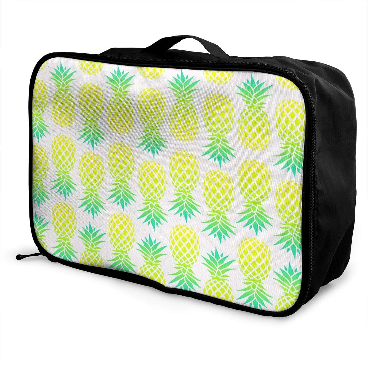 YueLJB Pineapple Pattern Lightweight Large Capacity Portable Luggage Bag Travel Duffel Bag Storage Carry Luggage Duffle Tote Bag