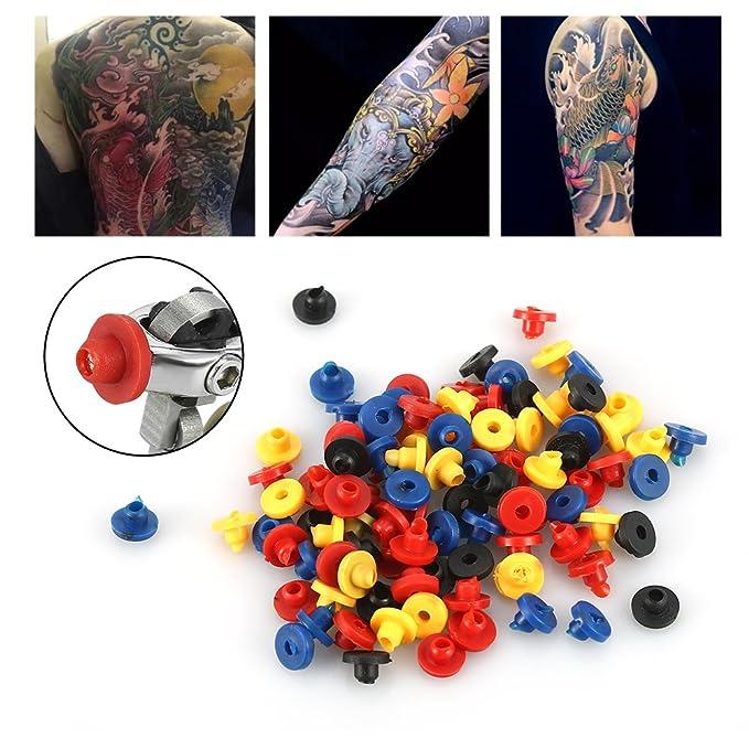 Máquina colorida del tatuaje de los pezones del ojal de goma ...
