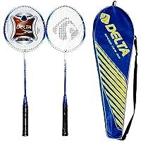 Delta Unisex Çantalı Çiftli Badminton Seti (Çift) Dvr 801, Mavi, Tek Beden