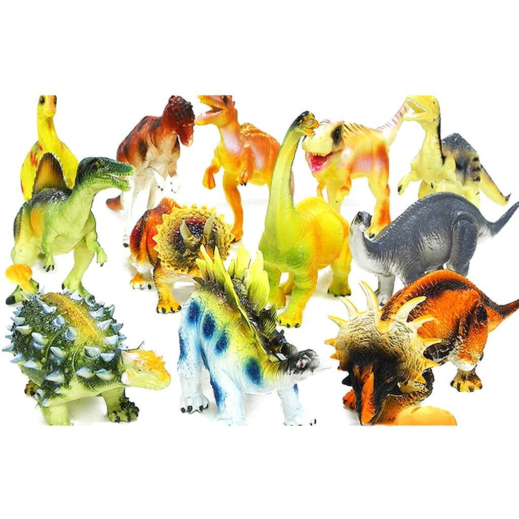 Spielzeug Kunststoff Dinosaurier Dinosaurier Spielzeug Dinosaurier Modell Wildtier Spielzeug Dinosaurier Spielzeugmodell Set aus 24 Dinosauriern, Dinosaurieralben, Aufbewahrungstaschen