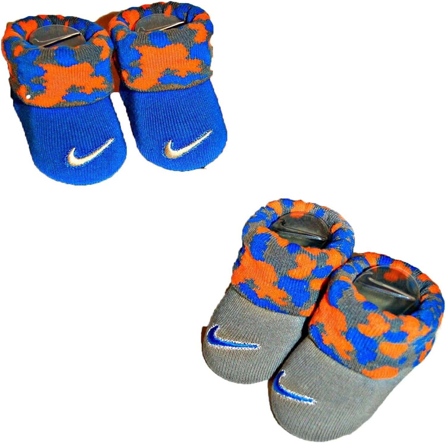 Nike Baby Swoosh 2 Pack Baby Booties for Boys and Girls 0-6M