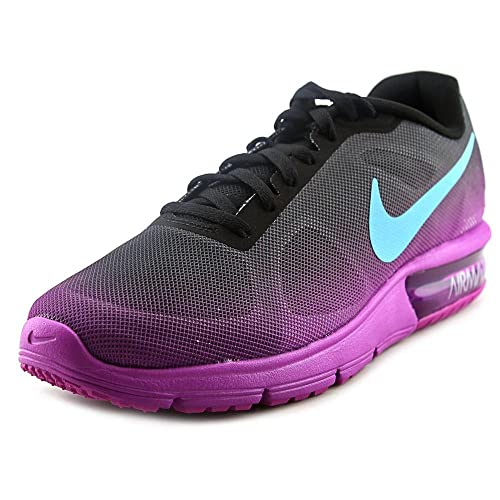 sale retailer b973a 0ccd7 Women s Nike Air Max Sequent Running Shoe (6 B(M) US, BLACK