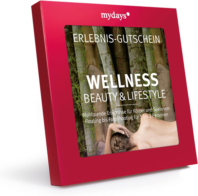 Caja de cupones de regalo mydays: para el bienestar, la belleza y estilo de vida–cupones para una experiencia, cupones perfectos para regalo