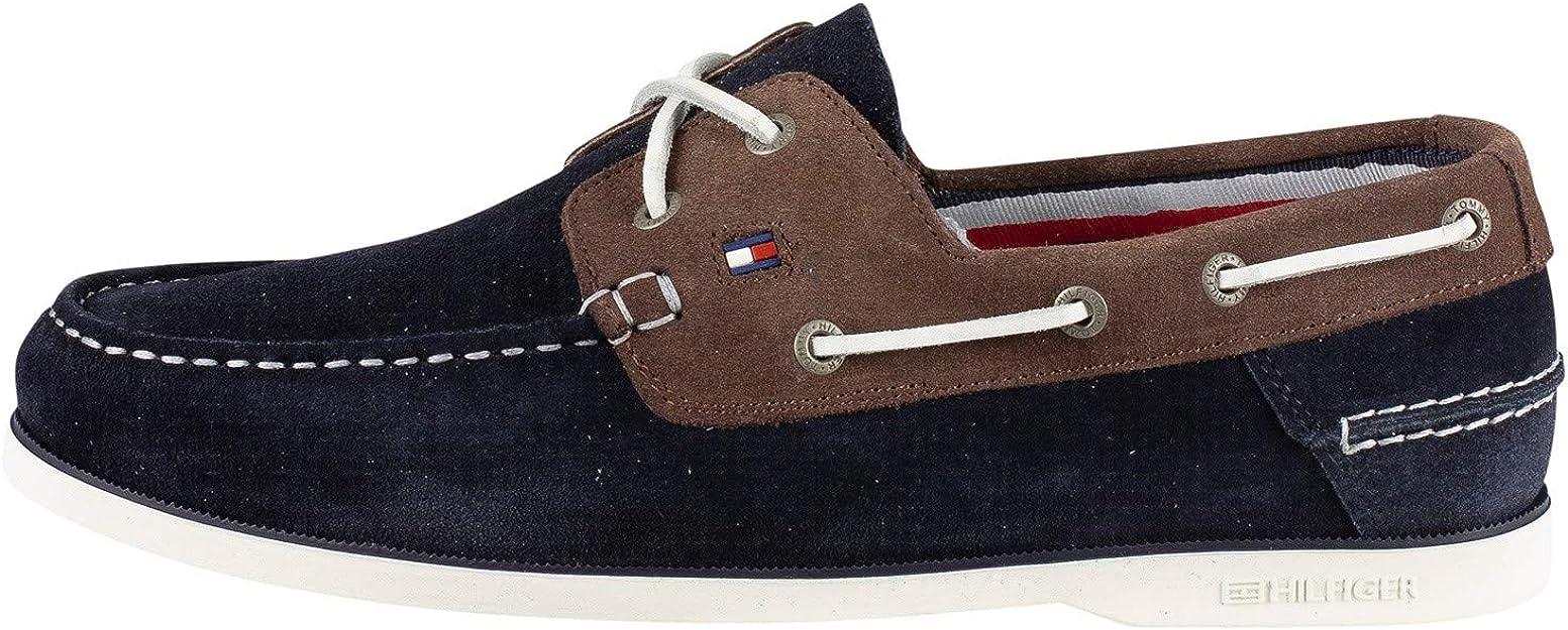 Tommy Hilfiger Herren Klassische Wildleder Bootsschuhe Blau