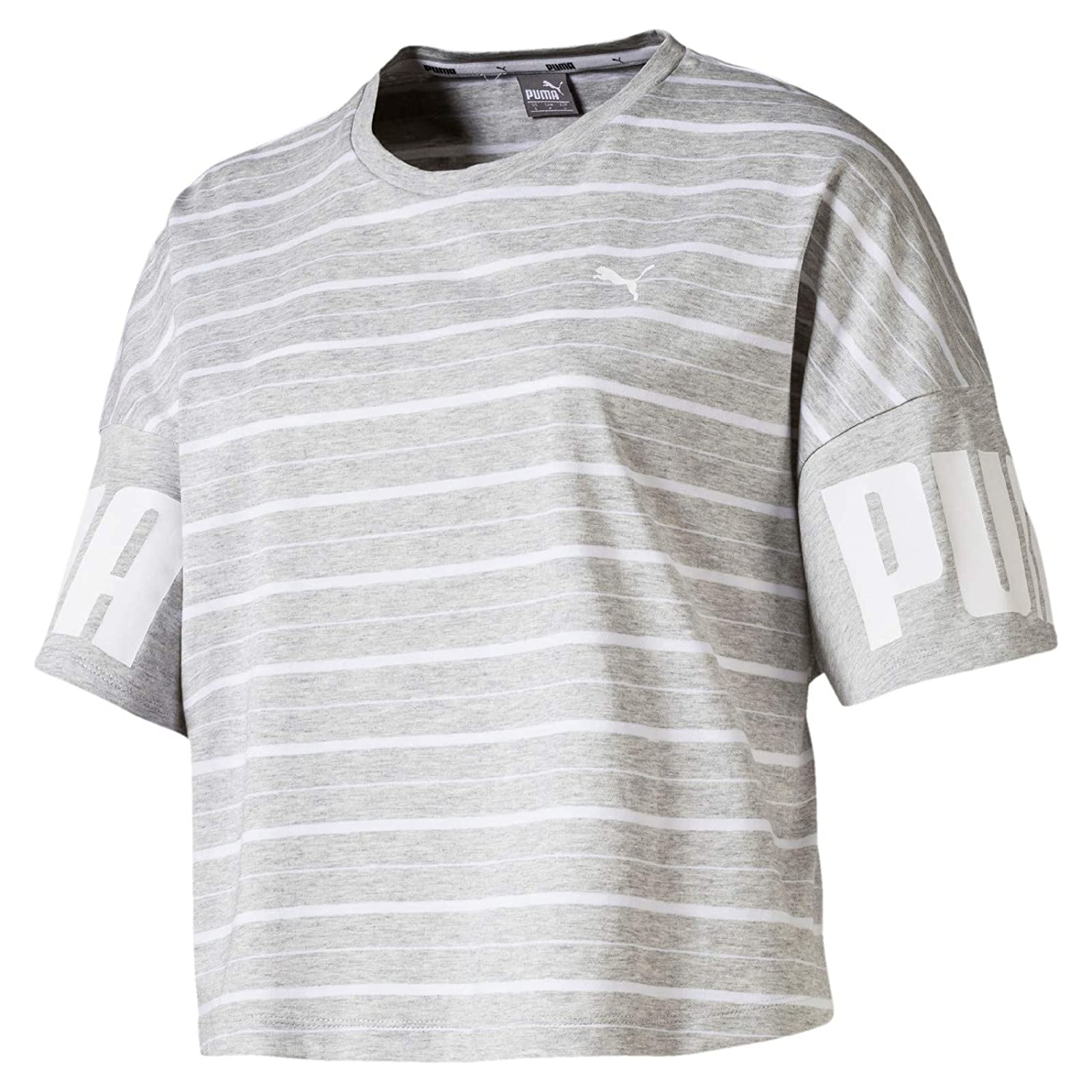 Puma Damen Rebel Striped T Shirt: : Sport & Freizeit