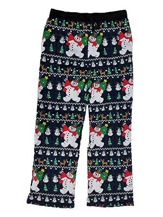 ugly christmas mens christmas holiday snowman microfleece lounge sleep pants pajama bottoms