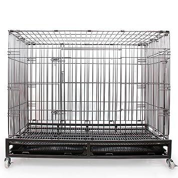 SL&ZX Klappbarer Metall hundebox,Gro?er Hund cagepet Rough Draht ...