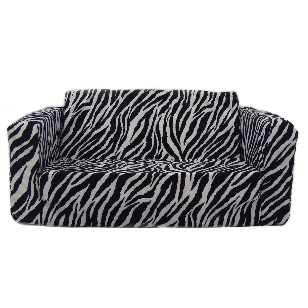 Fun Furnishings 55224 Toddler Flip Sofa, Zebra