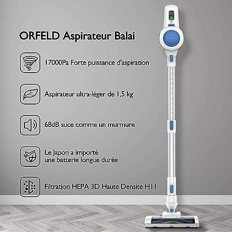 Orfeld 2 en 1 | Avis complet sur cet aspirateur balai léger