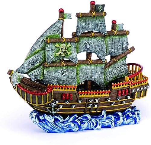 Penn Plax Large Pirate Wave Runner Ship
