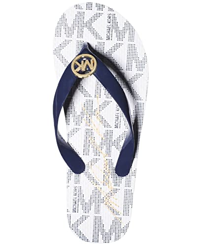24737a7eba5b Image Unavailable. Image not available for. Color  Michael Kors Womens Jet  Set Flip Flops ...