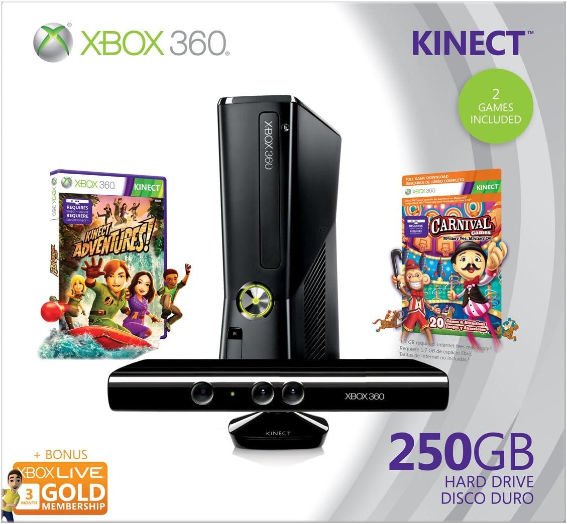 Microsoft Xbox 360 250GB Kinect Holiday Bundle - juegos de PC ...