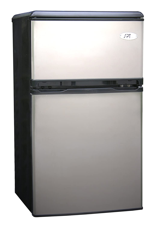 Amazon.com: Sunpentown RF 320S 3 1/5 Cubic Foot Double Door Refrigerator,  Stainless: Compact Refrigerators: Kitchen U0026 Dining