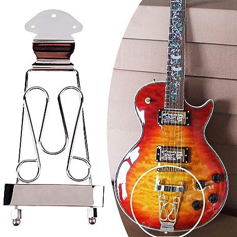domybest Deluxe – Bajo Eléctrico Jazz Guitarra Puente de trapecio cordal para 6 cuerdas Archtop guitarra