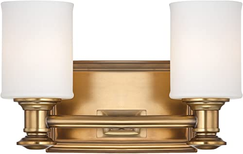 Minka Lavery Wall Light Fixtures Harbour Point 5172-249 Glass Reversible 200w 7″H x 11″W Vanity Light